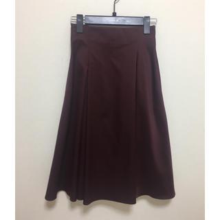 エムプルミエ(M-premier)の美品☆M-PREMIERタックスカート☆32Pサイズ(ひざ丈スカート)