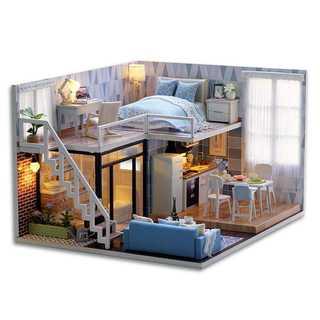 DIY木製ドールハウス、メゾネットタイプ、手作りキットセット 409