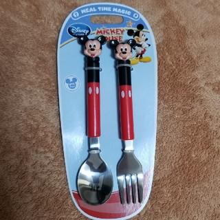 ディズニー(Disney)の新品 未使用のミッキーマウスのスプーン フォーク(スプーン/フォーク)