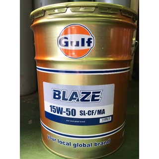 送料無料 20L×1缶Gulf BLAZE 15W-50 エンジンオイル(その他)