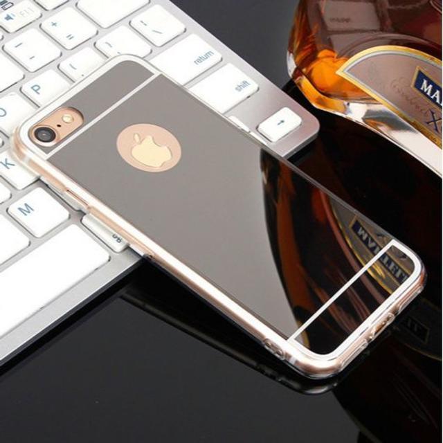 iphone7plus,ブラック ケース スマホカバー 鏡面 ミラーカバーの通販 by クリス's shop|ラクマ