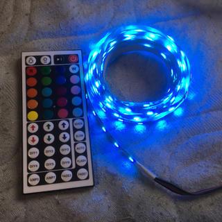 RGB LED ストリップ5m 電源、コントローラ、リモコン付き(蛍光灯/電球)