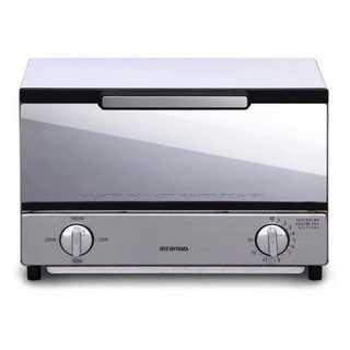 オーブントースター トースト2枚 ミラー調 横型