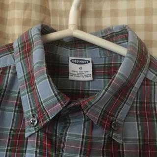 チェックシャツ身幅49丈65 12才(ブラウス)