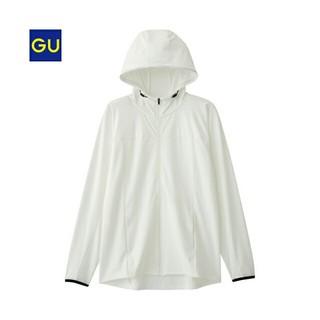 ジーユー(GU)のジーユー GU UVカットフルジップパーカ(長袖)GS(パーカー)