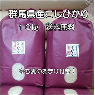 群馬県沼田市産 コシヒカリ  10㎏ もち麦つき!(米/穀物)