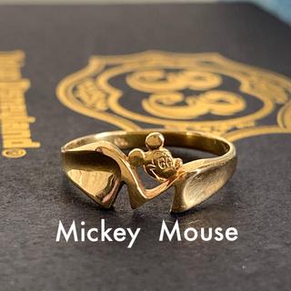 ディズニー(Disney)のDisney🎪 K18 ミッキーマウス ヴィンテージリング(リング(指輪))