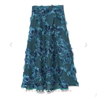 フレイアイディー(FRAY I.D)の新品 フレイアイディー ジャガード フレア スカート ロングスカート(ロングスカート)