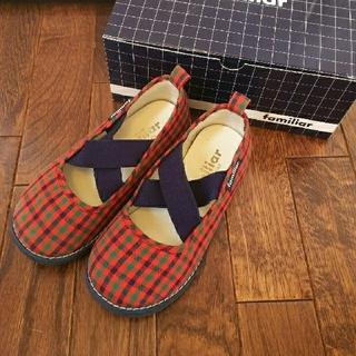 ファミリア(familiar)の【難あり】familiar16㎝  スリッポン 靴 ファミリアチェック(スリッポン)
