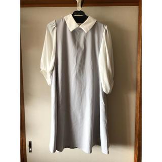 アルシーヴ(archives)のグレー襟付きワンピース(ひざ丈ワンピース)