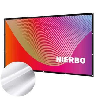 【大人気】【NIERBO】プロジェクター スクリーン 100インチ(プロジェクター)