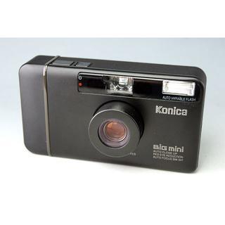 コニカミノルタ(KONICA MINOLTA)の美品 Konica BiG mini BM-301 ブラック★コニカ ビッグミニ(フィルムカメラ)