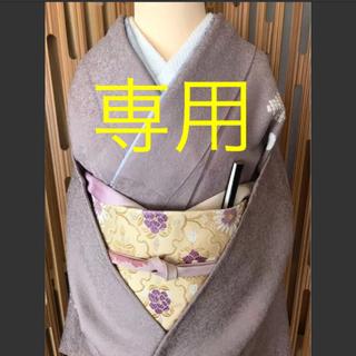 ★ご検討中★  付下げ  シックで上品  部分絞りと刺繍  裄丈長め(着物)