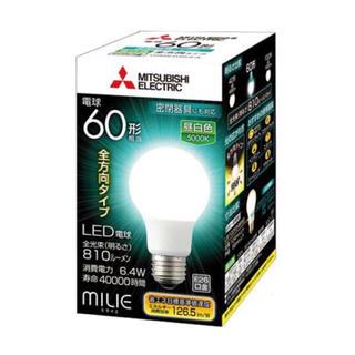 ミツビシデンキ(三菱電機)の【らがーる様】LED電球 ミライエ[昼白色]LDA6N-G/60/S-A  1個(蛍光灯/電球)