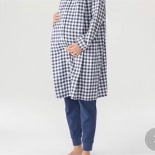 ムジルシリョウヒン(MUJI (無印良品))の脇に縫い目のない二重ガーゼ授乳に便利な長袖パジャマ(ロング) マタニティM~L(マタニティパジャマ)