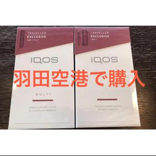 アイコス(IQOS)のIQOS3 免税店限定 ラディアントレッド IQOS3&マルチセット(タバコグッズ)