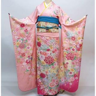 振袖 正絹 新品 着物単品 仕立て上がり ピンク NO30125(振袖)