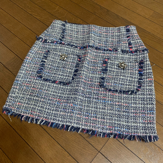 ザラ(ZARA)のザラベーシック ツイード ミニスカート(ミニスカート)