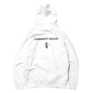 FRAGMENT - QUCON fragment XL パーカー HOODIE