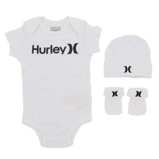 ハーレー(Hurley)のHurley BOX付 ベビー ロンパース ホワイト 80(ロンパース)