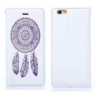アユーラ(AYURA)のスマホ ケース ホワイト 民族柄 iPhone7 手帳型 おしゃれ PUレザー(iPhoneケース)