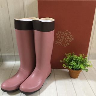 カナナプロジェクト 長靴 レインブーツ シューズ ガーデニング ピンク Lサイズ(レインブーツ/長靴)