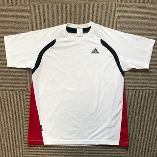 アディダス(adidas)のadidas CLIMA COOL Tシャツ メンズM 白 ライン入り(ウェア)