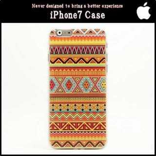 アユーラ(AYURA)のスマホ ケース iPhone7 木目調 ウッド ボヘミアン柄 ハード 装着簡単(iPhoneケース)