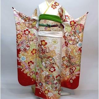 振袖 正絹 新品 着物単品 仕立て上がり 白地 NO30120(振袖)