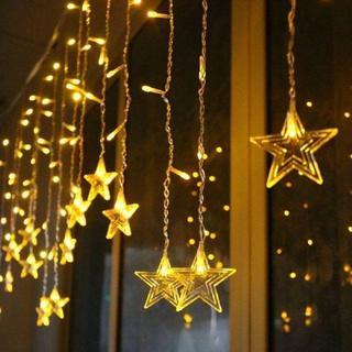 インスタ映え☆イルミネーション LEDライト クリスマス飾り カーテンライト(蛍光灯/電球)