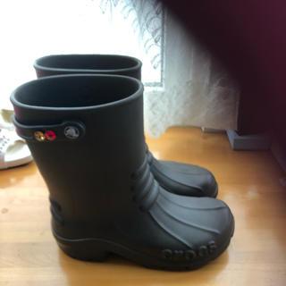 クロックス(crocs)の美品 クロックス レインブーツ size.M(24cm)(レインブーツ/長靴)
