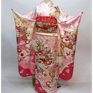 振袖 正絹 新品 着物単品 仕立て上がり ピンク NO30119(振袖)