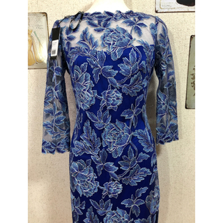 タダシショウジ(TADASHI SHOJI)の新品 タダシショージ Tadashi Shoji ワンピース ドレス ブルー(ひざ丈ワンピース)