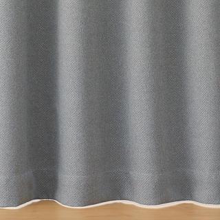 ムジルシリョウヒン(MUJI (無印良品))の無印良品 ポリエステルバスケット織(防炎・遮光性) グレー 100×105(カーテン)