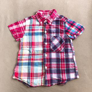 デニムダンガリー(DENIM DUNGAREE)のデニム&ダンガリー 半袖 チェックシャツ 110(その他)