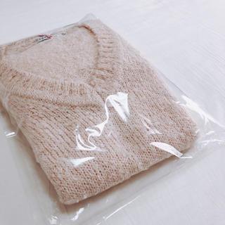épanouir 【エパヌイール】ニット ロング ミニワンピース 桜色 ピンク(ニット/セーター)