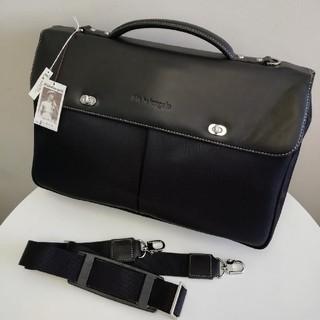 【新品未使用】ミケランジェロ ビジネスバッグ イタリアレザー 本革(ビジネスバッグ)