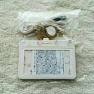 アフタヌーンティー(AfternoonTea)のafternoon Tea☆フェミニンモチーフ柄 コードリール付き IDケース(パスケース/IDカードホルダー)