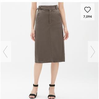 GU - ジーユー チノグルカミディスカート スカート ミディスカート チノ GU