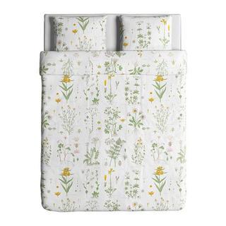 イケア(IKEA)のIKEAダブル掛け布団カバー&枕カバー(枕カバー2枚), 花柄(シーツ/カバー)