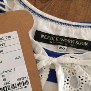 ニードルワークスーン(NEEDLE WORK SOON)の未使用 NEEDLE WORK SOON ニードルワーク カットソー 90(Tシャツ/カットソー)