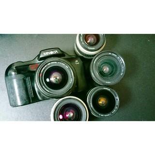 コニカミノルタ(KONICA MINOLTA)のMINOLTA α-7xi レンズ5本付き(フィルムカメラ)