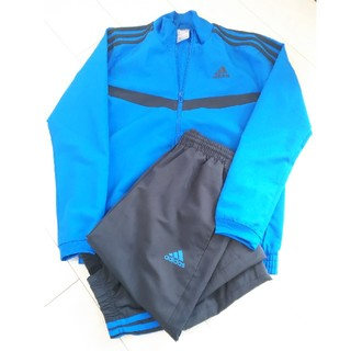 《adidas》ブルー 150 M スポーツ ジャンパーパンツ 上下セット