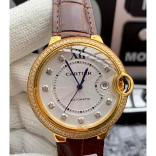 カルティエ(Cartier)のCARTIER カルティエ メンズ 腕時計 防水 クオーツ オススメ 時計(レザーベルト)
