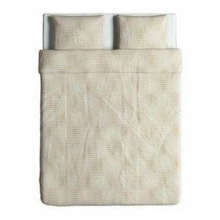 イケア(IKEA)のIKEAダブル掛け布団カバー&枕カバー(枕カバー2枚)NATTLJUS(シーツ/カバー)