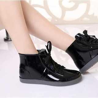 ★大きいサイズ★レインブーツ レディース シューズ 長靴 25 黒 スニーカー(レインブーツ/長靴)