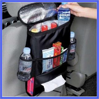 車 のシートに楽々取付け 車用 収納 保冷保温 シートバック ポケット (車内アクセサリ)
