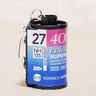 コニカミノルタ(KONICA MINOLTA)の☆CENTURIA SUPER 27 ISO400 フイルム キーホルダー(フィルムカメラ)