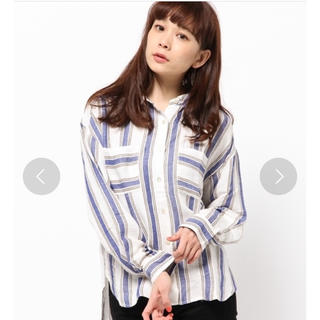 ローズバッド(ROSE BUD)のROSE BUT ストライプシャツ(シャツ/ブラウス(長袖/七分))