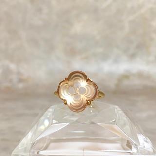 ルイヴィトン(LOUIS VUITTON)の正規品 ヴィトン 指輪 アラフォリ 花 フラワー クリア ゴールド リング 2(リング(指輪))
